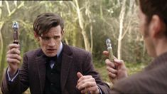 This is the greatest Doctor Who gif ever invented. guys, i really wasn't sure how i would feel about ten and eleven together, cuz i felt like the whole episode would be about ten, and how he's back, but i am glad that they let eleven have the good scenes/lines (from what i have seen from the trailer) and yes..this is perfect on the level that i want it to be on...