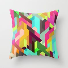 City 04. Throw Pillow by Three Of The Possessed - $20.00