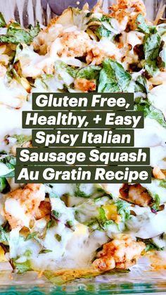 Healthy Eating Recipes, Meal Recipes, Gluten Free Recipes, Low Carb Recipes, Chicken Recipes, Healthy Food, Cooking Recipes, Italian Chicken Sausage, Pasta Dinners
