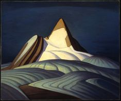 Lawren Harris, Isolation Peak, c. oil on canvas. Group of Seven Tom Thomson, Emily Carr, Canadian Painters, Canadian Artists, Abstract Landscape, Landscape Paintings, Landscapes, Group Of Seven Artists, Mountain Art