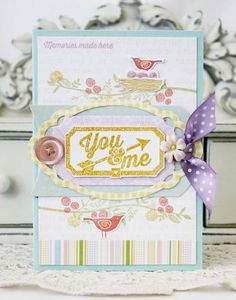 You & Me Card by Melissa Phillips for Papertrey Ink (April 2013)