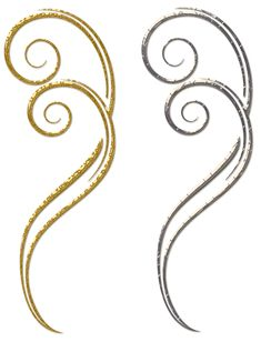 Gold and Silver Decorative Ornaments PNG Clipart