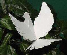 DIY paper dove with printable template | Mashustic.com