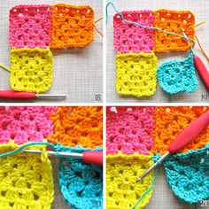 Color 'n Cream Crochet and Dream: Mastering The Basics: Join-As-You-Go