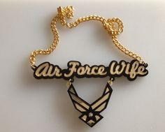 Air Force Wife Necklace (gold) I want this! :)