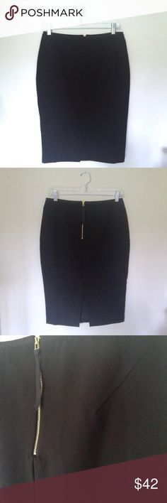 "BODEN Black Pencil Skirt NWOT Black fully lined, exposed zip pencil skirt by Boden. Amazing feel inside and out. Machine wash. 23 1/2"" in Length Boden Skirts Pencil"