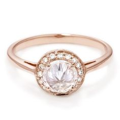 Anna Sheffield Round Rosette Diamond Engagement Ring