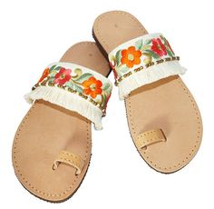 summer boho sandals  Check out this item in my Etsy shop https://www.etsy.com/listing/536464075/greek-sandalsleather-sandalssilk