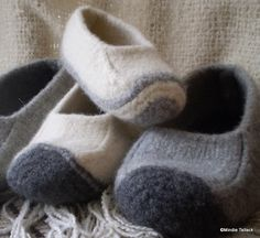 Warmth ~ Slippers ~ Knit Felted Duffers ~ pattern for purchase