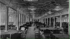Titanic Kaza gecesi çekilen restoranı ve Titanik gemisinin son fotoğrafı