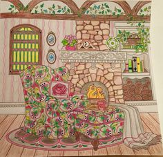 Colored by Cheryl Krumm. Love my new coloring book by #Debbie Macomber
