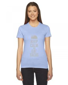 taco mexican keep calm and eat tacos funny Ladies Fitted T-Shirt