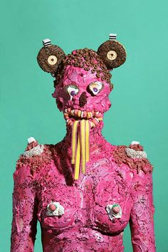junk food art - British artist James Ostrer's latest series, titled 'Wotsit All About,' is comprised of human junk food art. Junk food was littl. Pop Design, Food Sculpture, Sculptures, Juan Sanchez Cotan, Photo D Art, Art En Ligne, Oeuvre D'art, Junk Food, New Trends