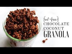 Oil-Free Chocolate Coconut Granola {with lots of crunchy cacao clusters!}