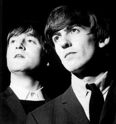 John and George of the Beatles Beatles Photos, The Beatles, John Lennon Paul Mccartney, Julian Lennon, The Ed Sullivan Show, Music Genius, The Fab Four, Rockn Roll, Yellow Submarine