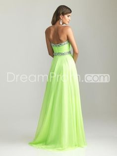 2014+Style+A-line+Sweetheart+Rhinestone+Sleeveless+Floor-length+Chiffon+Prom+Dresses+/+Evening+Dresses