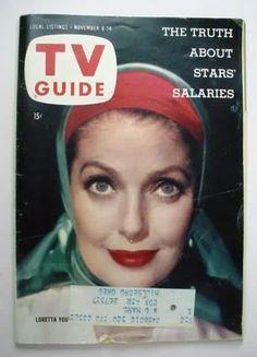 TV Guide magazine, August 1958 (Loretta Young)