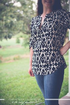 Stitchfix stylist, Love the pattern and style of this top. Though the pattern is busy I like the black and white coloring that tones it down