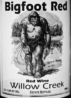 Bigfoot sells wine!! For fun.