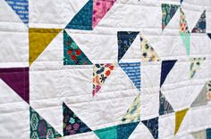 Lagoon HST Quilt (with tutorial)