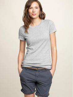 #gap, just bought a pair of these roll-up boyfriend shorts-in lavender to wear with a grey t-shirt-can't wait for warm weather