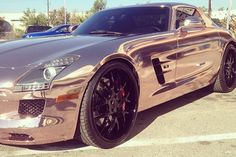 Tyga Has Mercedes-Benz SLS AMG Wrapped in Rose Gold