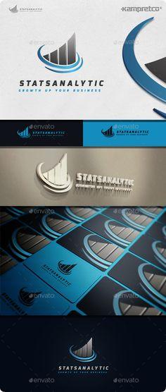 Stats Analytic Logo Template #design #logotype Download: http://graphicriver.net/item/stats-analytic-logo/11506737?ref=ksioks