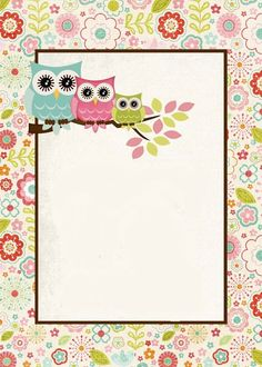 lechucitas Printable Lined Paper, Free Printable Stationery, Kindergarten Coloring Pages, Boarders And Frames, Owl Clip Art, Owl Classroom, Borders For Paper, Stationery Paper, Note Paper