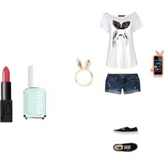Bunny Outfit by marydecker on Polyvore featuring Boohoo, Aéropostale, Vans, Natasha Zinko, MARC BY MARC JACOBS, NARS Cosmetics and Essie