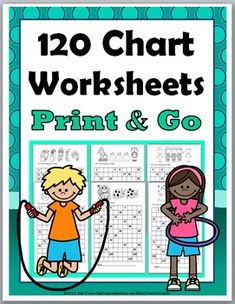 120 Chart Worksheets - FOR THE ENTIRE YEAR - 30 Print and Go Printables (NO PREP!)