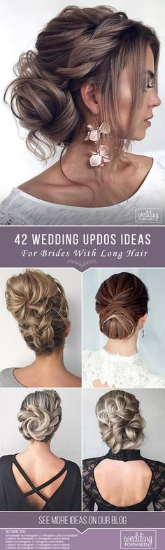 42 Wedding Updos For Long Hair Those earrings are awesome! The post 42 Wedding Updos For Long Hair appeared first on Beautiful Shared. Wedding Braids, Long Hair Wedding Styles, Wedding Hairstyles For Long Hair, Wedding Hair And Makeup, Bride Hairstyles, Bridal Hair, Short Hair Styles, Hairstyle Ideas, Bridesmaid Hair