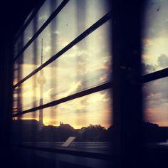 Sunset on the train