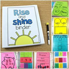 "The Rise and Shine Binder uses interactive morning activities to wake up with the standards!  This is a year long hands-on math and literacy interactive notebook that will engage your students each morning! Great for Kindergarten and First Grade.  To learn more about ""How to Implement the Rise and Shine Binder"", visit www.tunstallsteachingtidbits.com"