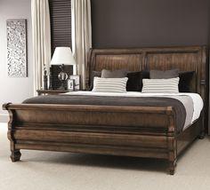 Montebella Queen Sleigh Bed With Scroll Detail By Bernhardt