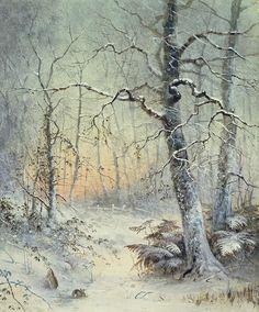 Winter Breakfast Painting  - Winter Breakfast Fine Art Print