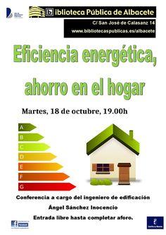 #actividadesBiblioteca Conferencia sobra ahorro energético en el hogar