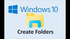 Windows 10 - Create Folders - How To Make a New Folder and Organize Files on Computer in Explorer File Management System, Organize Files, About Windows 10, File Organization, Organizing, Microsoft Word Document, Slide Background, Make Tutorial, How To Make Labels