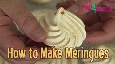 How to Make Meringues - Perfect Meringues - Crispy Outside, Soft Inside!!!