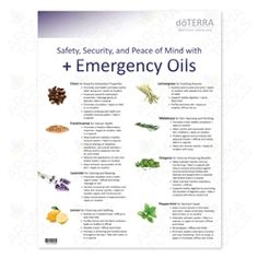 This handout outlines the uses and benefits of 15 essential oils and blends in the doTERRA Emergency Preparedness Kit. It features 8 single oils and 7 doTERRA blends with their recommended uses. Essential Oil Carrier Oils, Essential Oils For Pain, Essential Oil Uses, Young Living Essential Oils, Pure Essential, Oils For Life, Healing Oils, Young Living Oils, Doterra Essential Oils