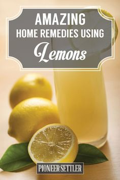 Check out Amazing Things To Do With Lemons | Home Remedies at http://pioneersettler.com/amazing-things-lemons-home-remedies/
