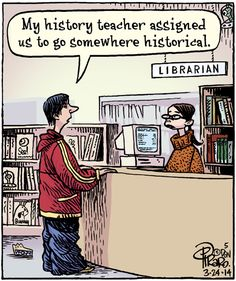 As one of the oldest cities in Iowa, Dubuque has many historical buildings, including Carnegie-Stout Public Library, which was opened in 1902! Because this week is Architecture Days, it's a perfect time to drop in and learn about our local history: http://www.dubuquemainstreet.org/archdays.html (Comic by Dan Piraro)