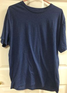 J. Crew Men's Solid Navy Blue Short Sleeve Crew Neck T-Shirt Size XL X-Large…