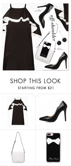 """""""Spring Trend: Off-Shoulder Dresses"""" by paculi ❤ liked on Polyvore featuring French Connection, Casetify and offshoulderdress"""