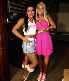 bratz doll and barbie doll halloween costume idea very clever idea for a best friend - 3 Girl Costumes Halloween