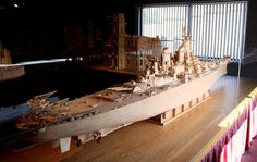 Mind-Blowing Matchstick Sculptures by Patrick Acton - USS Iowa, 1370,000 matchsticks