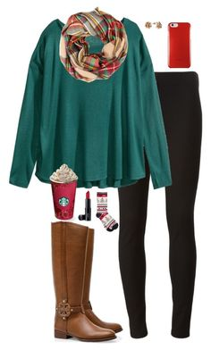 Merry Christmas by sc-prep-girl on Polyvore featuring polyvore, fashion, style, Tory Burch, H&M, Joseph, M&Co and Laura Geller