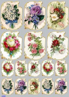 RICE PAPER DECOUPAGE FLOWERS POPPY VINTAGE CRAFT SHEET SCRAPBOOKING 001