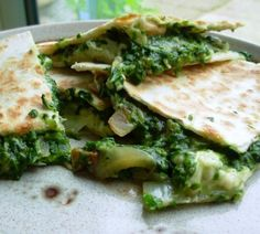 Spicy Rainbow Chard Quesadillas