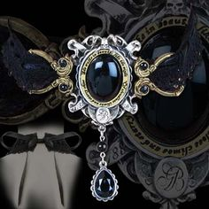"""""""She Walks In Beauty"""" choker by Alchemy Gothic (poetry by Lord Byron)"""
