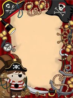 A page border featuring pirate graphics and styled to look like a     A page border featuring pirate graphics and styled to look like a treasure  map  Free downloads at http   pageborder      Page Borders and Border Clip  Art